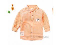 Рубашка с длинным рукавом для мальчика JBCK 1704 оранжевая размер 120 (6-7 лет)