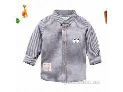 Рубашка с длинным рукавом для мальчика JBCK 1704 серая размер 120 (6-7 лет)