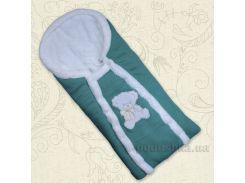 Конверт зимний для малыша Ведмедик Бетис с вышивкой цвет малиновый