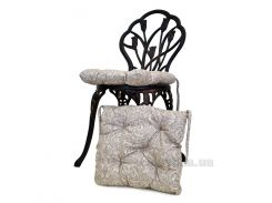 Подушка-сидушка на стул Прованс Фреска бежевая 40х40 см