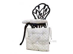 Подушка-сидушка на стул Прованс Ажур бежевая 40х40 см