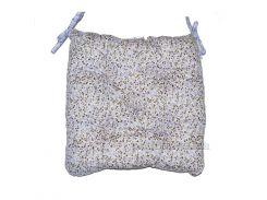 Подушка-сидушка на стул Прованс Цветы Лаванда 40х40 см