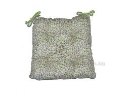 Подушка-сидушка на стул Прованс Цветы Олива 40х40 см