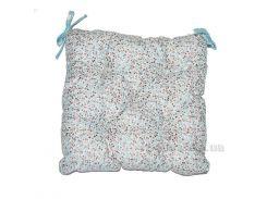 Подушка-сидушка на стул Прованс Цветы Тиффани 40х40 см