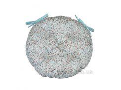 Подушка на стул Прованс Цветы Тиффани круглая диаметр 40 см