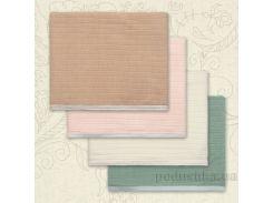 Плед детский Полоска Бетис вязка-кулир цвет розовый