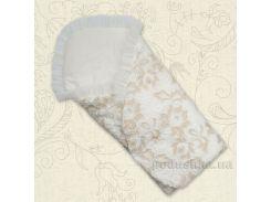 Конверт для новорожденного Ажур Бетис кружево-кулир весна-осень 80х80 см