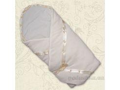 Конверт для новорожденного Ластивка Бетис велюр-кулир зима цвет молочный
