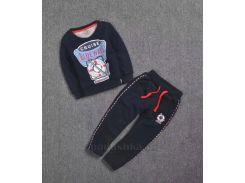 Спортивный костюм утепленный для мальчика C-18G kids T7001 темно-синий размер 90 (2-3 года)