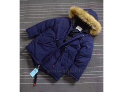 Куртка зимняя для мальчика Аляска JDK B488 синяя 100 (5 лет)