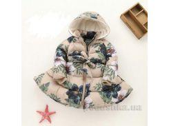 Пальто зимнее для девочки IMCCE kids 33 бежевое 98 (2-3 года)