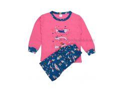 Пижама для девочки Татошка 01171 кулир розовый с бирюзовым принт Собачки 128