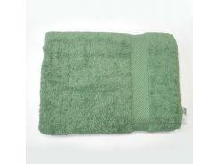 Полотенце махровое с бордюром Home Line зеленое 50х90 см