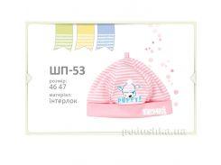 Шапка детская Bembi ШП53 интерлок 46 цвет розовый