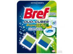 Чистящие кубики для унитаза Bref Дуо-Куб Хвойная свежесть 100 г 9000101025217
