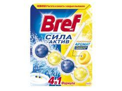 Туалетный блок Bref Сила Актив Лимонная Свежесть 50г 9000100625289