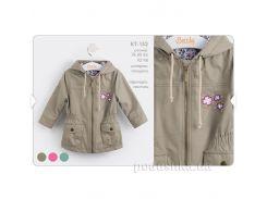 Куртка демисезонная Bembi КТ152 плащевка 74 цвет бежевый