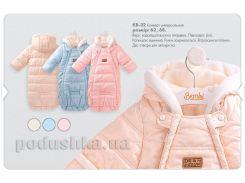 Конверт утепленный для малышей Bembi КВ32 62 цвет бежевый с рисунком