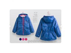 Куртка для девочки Bembi КТ142 86 цвет синий