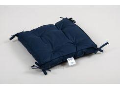Подушка на стул с завязками Lotus Optima синяя 40х40 см