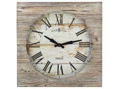 Часы настенные TFA Vintage XXL античный стиль дерево 500x60х500 мм 60303008