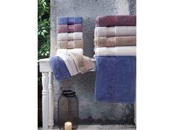 Полотенце Микро Коттон Arya Jewel 70х140 см темно-голубое
