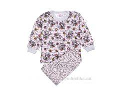 Пижама для девочки Татошка 01602 интерлок бежевый Зайки пара 134