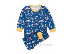 Пижама для девочки Татошка 01602 интерлок бирюзовый с желтым Таксы 122