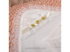 Крыжма для новорожденного Злата Бетис интерлок-фатин цвет молочный