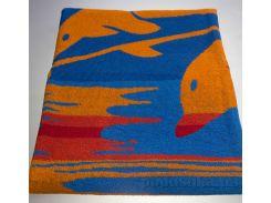 Полотенце махровое жаккард Yanatex голубой 100х150 см