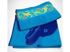 Полотенце махровое жаккард Yanatex Б045 синий 70х140 см