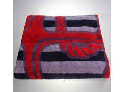 Полотенце махровое велюровое Yanatex якорь красный 90х170 см