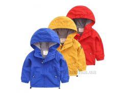 Куртка ветровка утепленная детская Catmiko kids 8574-516 красная размер 90