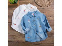 Рубашка для девочки Hello frog 31900 белая размер 130