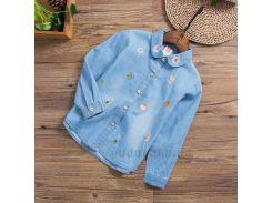 Рубашка для девочки Hello frog 31900 голубая размер 130