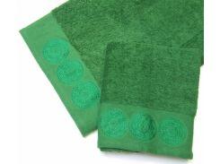Полотенце махровое Roma Dream 550 Damask зеленый 50х90 см