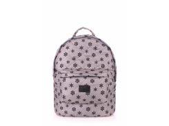 Рюкзак стеганый Poolparty Backpack snowflakes grey