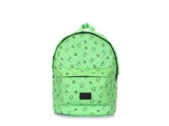 Рюкзак стеганый с уточками Poolparty Backpack theone green ducks
