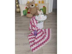 Плед детский Волна ОТМ Дизайн 2586344 розово-малиновый 90х120 см
