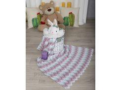 Плед детский Волна ОТМ Дизайн 2586342 мятно-фиолетовый 90х120 см