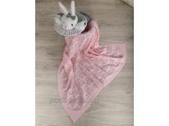 Плед детский ОТМ Дизайн 2586382 Сердечко розовый 90х120 см