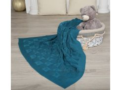 Плед детский ОТМ Дизайн 2586385 Сердечко темно-зеленый 90х120 см