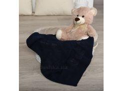 Плед детский ОТМ Дизайн 2586386 Сердечко темно-синий 90х120 см