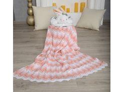 Плед детский Волна ОТМ Дизайн 2586346 лосось 90х120 см