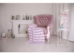 Плед детский Волна ОТМ Дизайн 2586345 фиолетовый 90х120 см