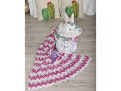 Плед детский Волна ОТМ Дизайн 2586343 серо-розовый 90х120 см