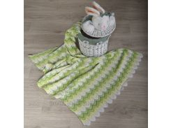 Плед детский Волна ОТМ Дизайн 2586340 салатовый 90х120 см