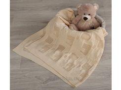 Плед детский Лабиринт ОТМ Дизайн 2586360 кремовый 90х120 см