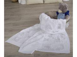 Плед детский Лабиринт ОТМ Дизайн 2586361 белый 90х120 см