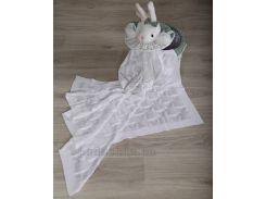 Плед детский Сердечко ОТМ Дизайн 2586370 белый 90х120 см
